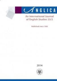 Anglica. An International Journal of English Studies 23(2)/2014 - okładka książki