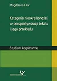 Kategoria nieokreśloności w perspektywizacji - okładka książki