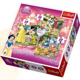 Królewna Śnieżka (puzzle 3 w 1) - zdjęcie zabawki, gry