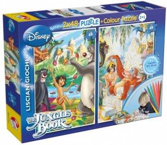 Księga Dżungli 2 w 1 (puzzle dwustronne - zdjęcie zabawki, gry