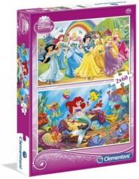 Księżniczki (puzzle 2 x 60-elem.) - zdjęcie zabawki, gry
