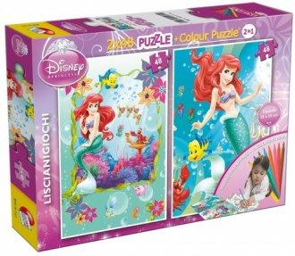 Mała Syrenka 2 w 1 (puzzle dwustronne - zdjęcie zabawki, gry