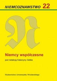 Niemcoznawstwo 22. Niemcy współczesne - okładka książki