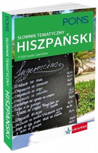 Słownik tematyczny hiszpański - okładka podręcznika