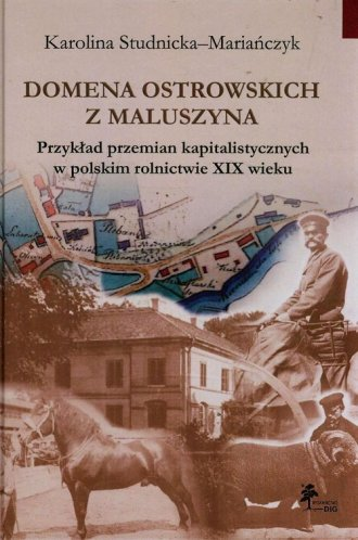 Domena Ostrowskich z Maluszyna. - okładka książki
