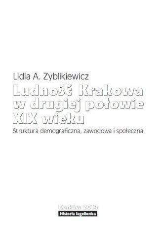 Ludność Krakowa w drugiej połowie - okładka książki