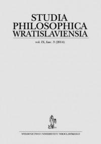 Studia Philosophica Wratislaviensia vol. IX fasc. 3 (2014) - okładka książki
