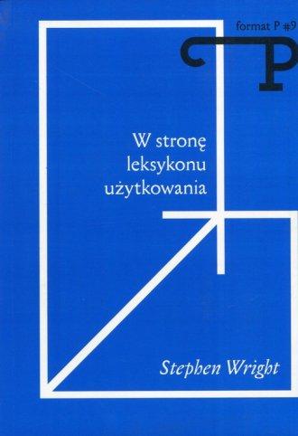 W stronę leksykonu użytkowania. - okładka książki