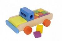 Zestaw drewnianych klocków (ciężarówka) - zdjęcie zabawki, gry