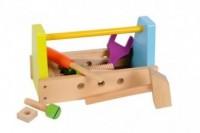 Zestaw drewnianych klocków (skrzynka na narzędzia) - zdjęcie zabawki, gry