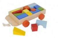 Zestaw drewnianych klocków (wózek) - zdjęcie zabawki, gry