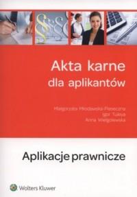 Akta karne dla aplikantów - okładka książki