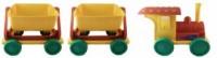 Ciuchcia z dwoma wagonikami - zdjęcie zabawki, gry