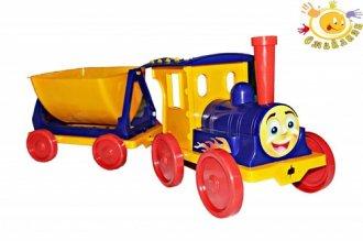 Ciuchcia z wagonikiem - zdjęcie zabawki, gry