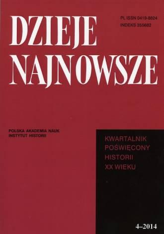 Dzieje Najnowsze. Kwartalnik poświęcony - okładka książki