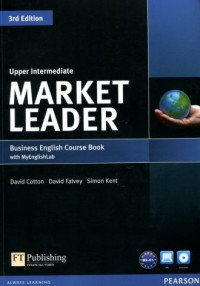 Market Leader 3Ed. Uppr-Intermed Business English Course Book with MyEnglishLab - okładka podręcznika