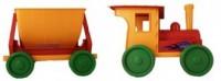 Pociąg z przyczepą (czerwony) - zdjęcie zabawki, gry