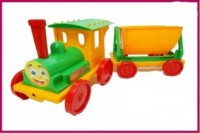 Pociąg z przyczepą (zielony) - zdjęcie zabawki, gry