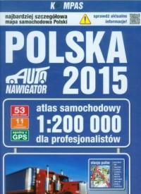 Polska 2015. Atlas samochodowy dla profesjonalistów (skala 1:200 000) - okładka książki