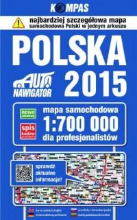 Polska 2015. Mapa samochodowa dla profesjonalistów (skala 1:700 000) - okładka książki