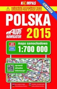 Polska. Mapa samochodowa (skala 1:700 000) - okładka książki