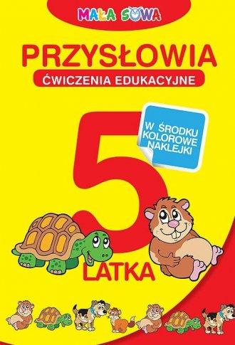 Przysłowia 5-latka z naklejkami - okładka książki