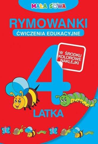 Rymowanki 4-latka - okładka książki