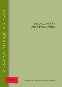 Slavica Wratislaviensia CLX - okładka książki