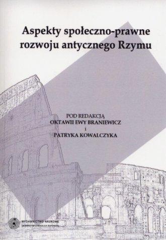 Aspekty społeczno-prawne rozwoju - okładka książki