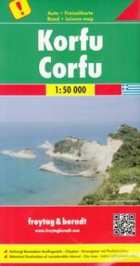 Korfu mapa (skala 1:50 000) - Wydawnictwo - zdjęcie reprintu, mapy