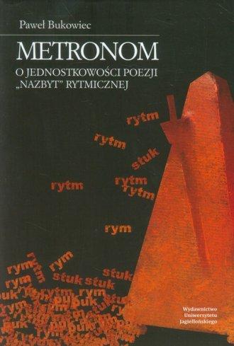 Metronom. O jednostkowości poezji - okładka książki