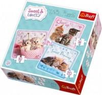 Słodkie kotki (puzzle 3 w 1) - zdjęcie zabawki, gry
