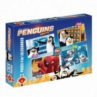 Pingwiny z Madagaskaru (puzzle 4 w 1) - zdjęcie zabawki, gry