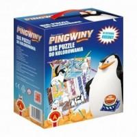 Pingwiny z Madagaskaru (puzzle do kolorowania 2, 2 w 1) - zdjęcie zabawki, gry