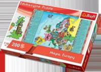 Mapa Europy dla dzieci (puzzle 200-elem.) - zdjęcie zabawki, gry