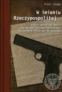 W imieniu Rzeczypospolitej... Wymiar - okładka książki