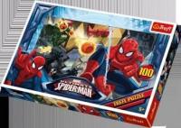 Ucieczka / Disney Marvel Spiderman (puzzle 100-elem.) - zdjęcie zabawki, gry
