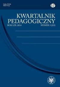 Kwartalnik Pedagogiczny. Rocznik LIX nr 3 (233) / 2014 - okładka książki