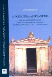 Macedonia Aleksandria. Analiza - okładka książki
