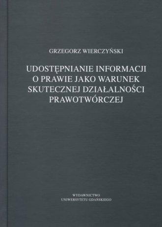 Udostępnianie informacji o prawie - okładka książki