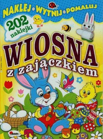 Wiosna z zajączkiem - okładka książki