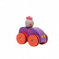 Drewniny samochodzik z Kurką - zdjęcie zabawki, gry