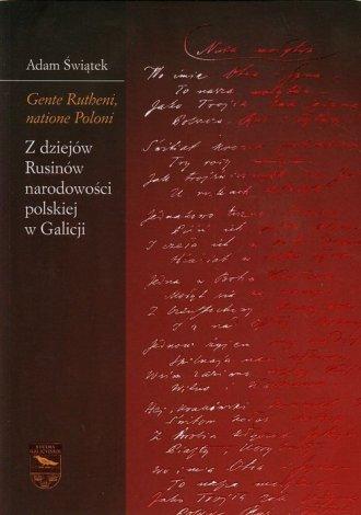 Gente Rutheni, natione Poloni. - okładka książki