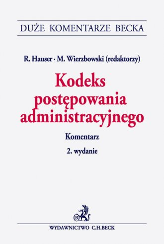 Kodeks postępowania administracyjnego. - okładka książki
