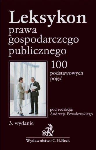 Leksykon prawa gospodarczego publicznego - okładka książki