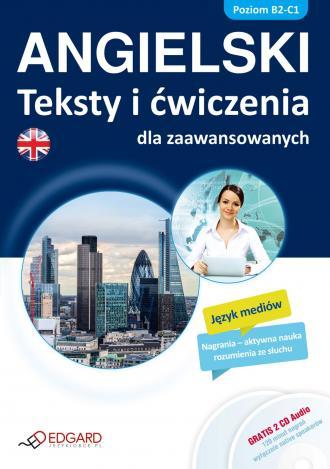 Angielski. Teksty i ćwiczenia dla - okładka podręcznika