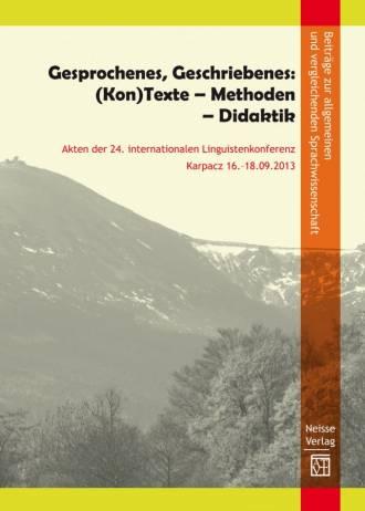 Gesprochenes, Geschriebenes: (Kon)Texte - okładka książki