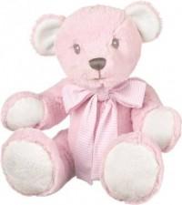 Miś różowy z kokardą (31 cm) - zdjęcie zabawki, gry