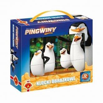 Pingwiny z Madagaskaru. Klocki - zdjęcie zabawki, gry
