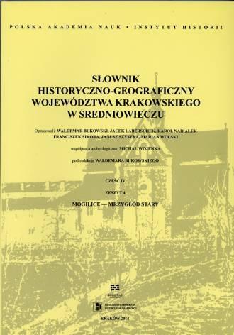 Słownik historyczno-geograficzny - okładka książki